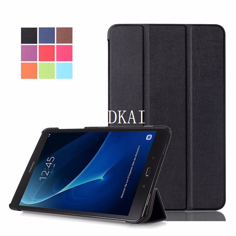 Magnetic stand pu leather cover case for Samsung Galaxy Tab A A6 10.1 2016 <font><b>T585</b></font> T580 SM-<font><b>T585</b></font> T580N cases +stylus image