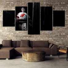 New 5 Piece Canvas Painting Ice Hockey Figure Paintings on Wall Art for Home Decorations Decor Picture(Frame)