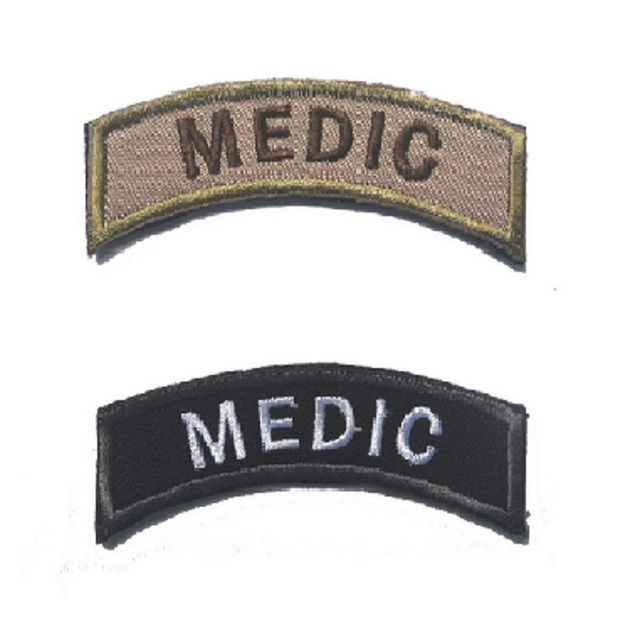 100pcs/lot 3D embroidery patches MEDIC Health soldiers patch chest