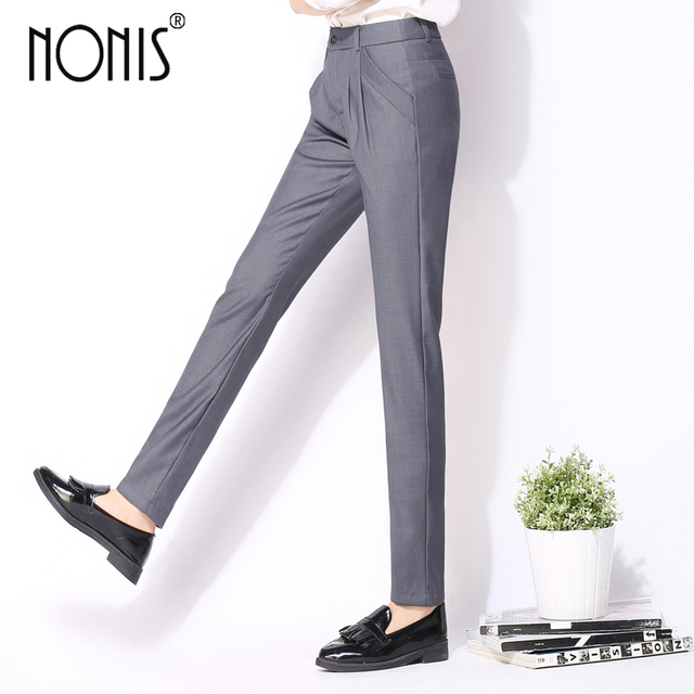 Nonis 2017 New Spring Summer Harem pant women High Waist pantalon Small Leg opening femme long trousers women S-3XL Work Wear
