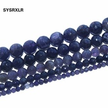 цена Wholesale Faceted Amethysts Deep Purple Natural Stone Loose Beads For Jewelry Making DIY Bracelet 4 6 8 10 12 MM Strand 15.5'' онлайн в 2017 году