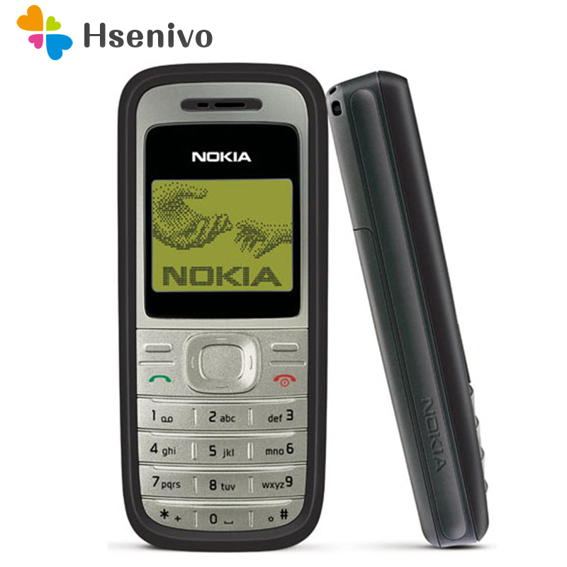 Original Nokia 1200 unlocked gsm 900/1800 mobile phone with russian HEBREW polish language Refurbished free shipping
