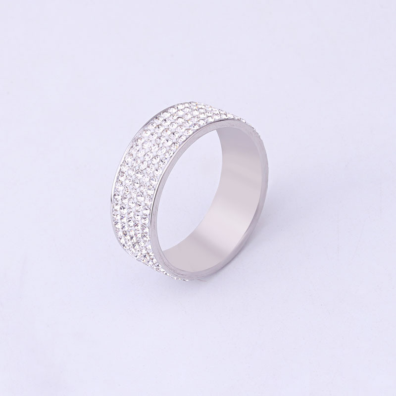 2019 Sale Fine Jewelry Jewelry Titanium Steel Full Crystal Ring Female Crystal From Swarovskis Fashion Romantic Ring For Women