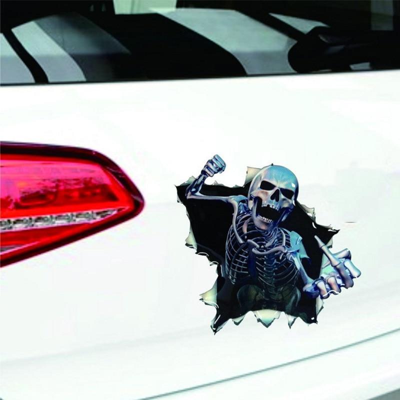 1vnt SEEYULE Naujas atvykimas Crazy kaukolė juokingi automobilio - Automobilių išoriniai aksesuarai - Nuotrauka 5