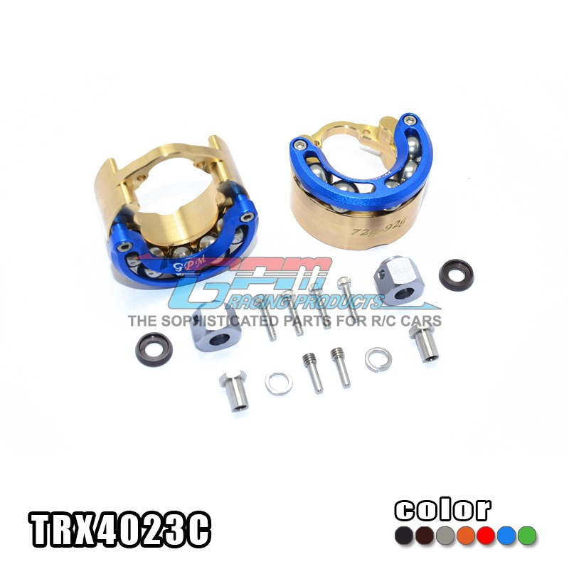 цена на Free shipping TRAXXAS TRX-4 TRX4 82056-4 Pendulum wheel knuckle axle weight + copper seat alloy lid+9MM hex adapter-set TRX4023C