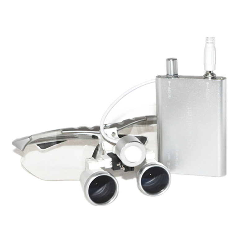 2018 Hot 3.5X420mm Dental Surgical Loupe Magnifier, Binocular Magnifier with LED Head Light Lamp dental loupes 3 5x 420 mm surgical magnifier binocular magnifier with led head light lamp surgical dentists magnifier
