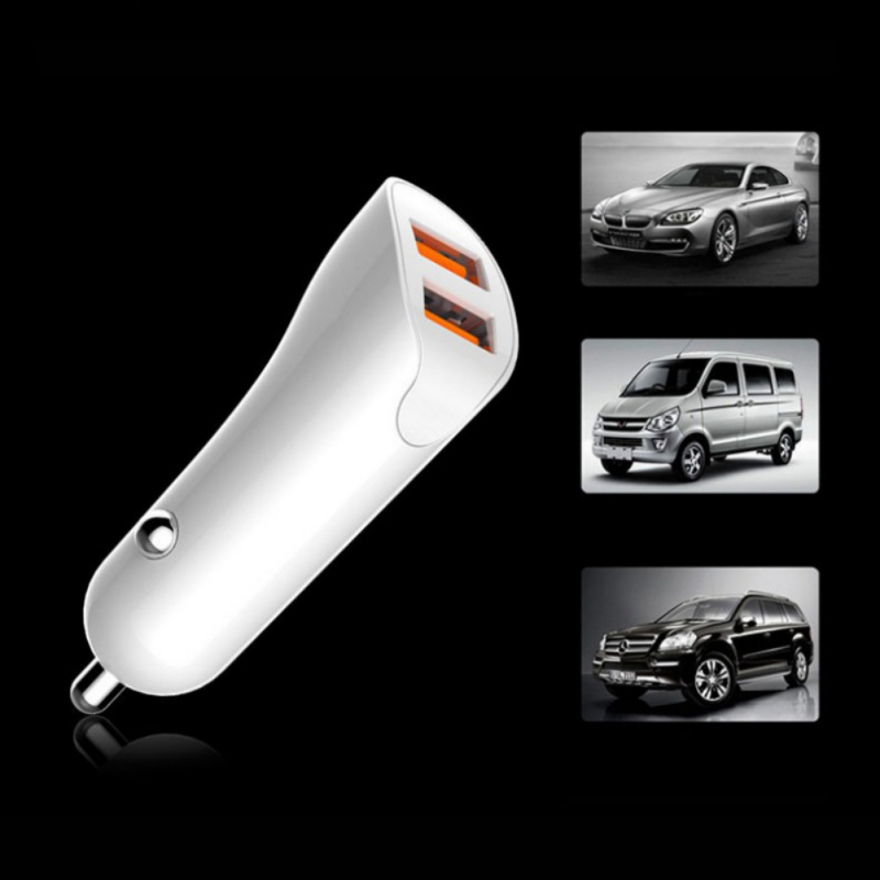 LCD Digital Display Dual USB Car-Charger Universal 3.4A LED 2 USB Car Charger adapter for Mobile Phones for Tablet PC