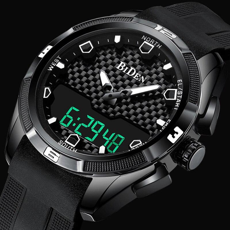 Montre militaire pour homme montre waterproof led Horloge À Quartz De Mode montre de sport Mâle relogio masculino S Choc montre pour homme 2019 Nouveau