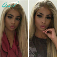 Qearl Glueless Lace front Wigs Chinese Virgin Hair Lace Wigs Blonde Human Hair Wig For Women with Baby Hairs Freestyle Part