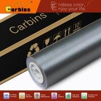 Carbins Grey matte chrome brushed aluminium vinyl car wraps for full body car, motorcycle, boats,