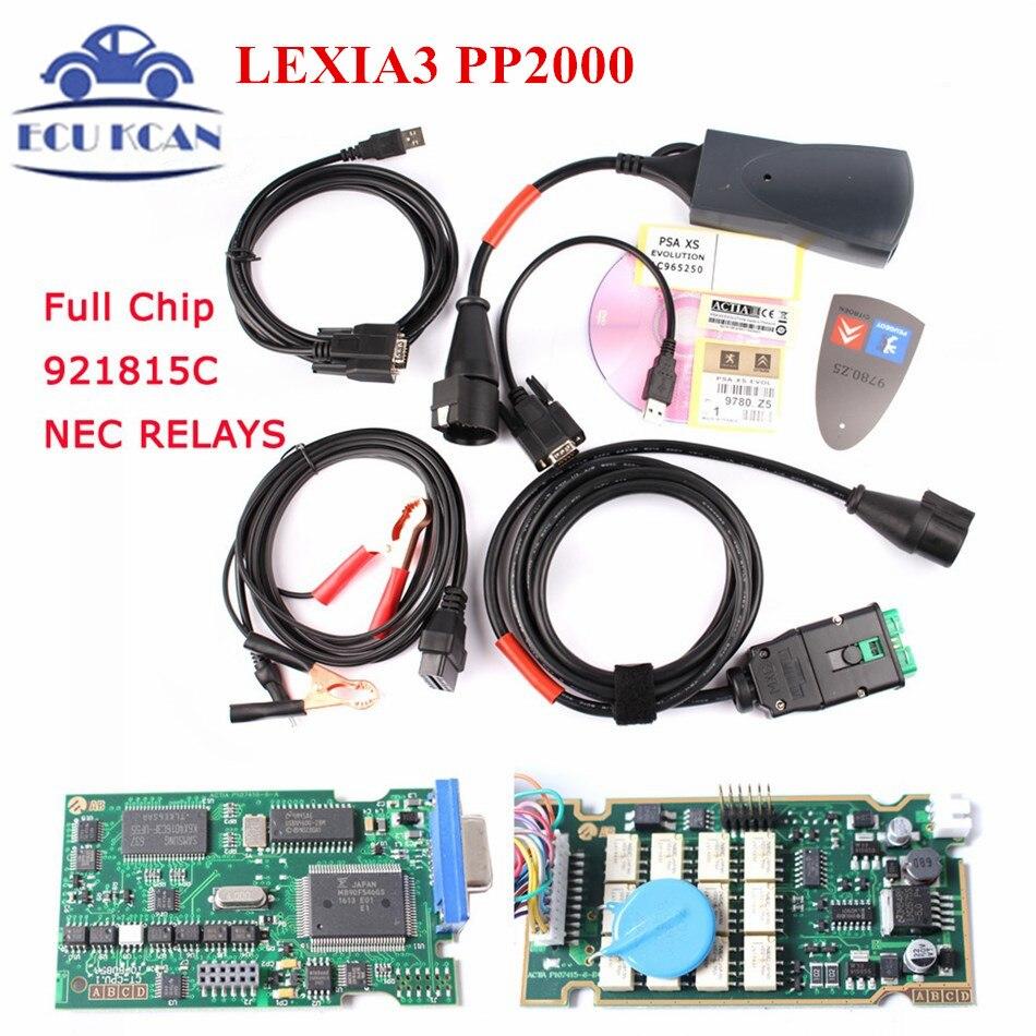Цена за DHL Бесплатная Доставка! Lexia3 PP2000 Diagbox v7.82 обновление v7.83 лексия полной Прошивки чипа Серийный Номер. 921815C LEXIA3 Лучшее качество
