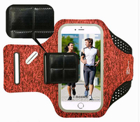 Waterproof Sports Arm Band Touch Screen Case Waist Belt Mobile Phone Pouch For BlackBerry KEYone Mercury