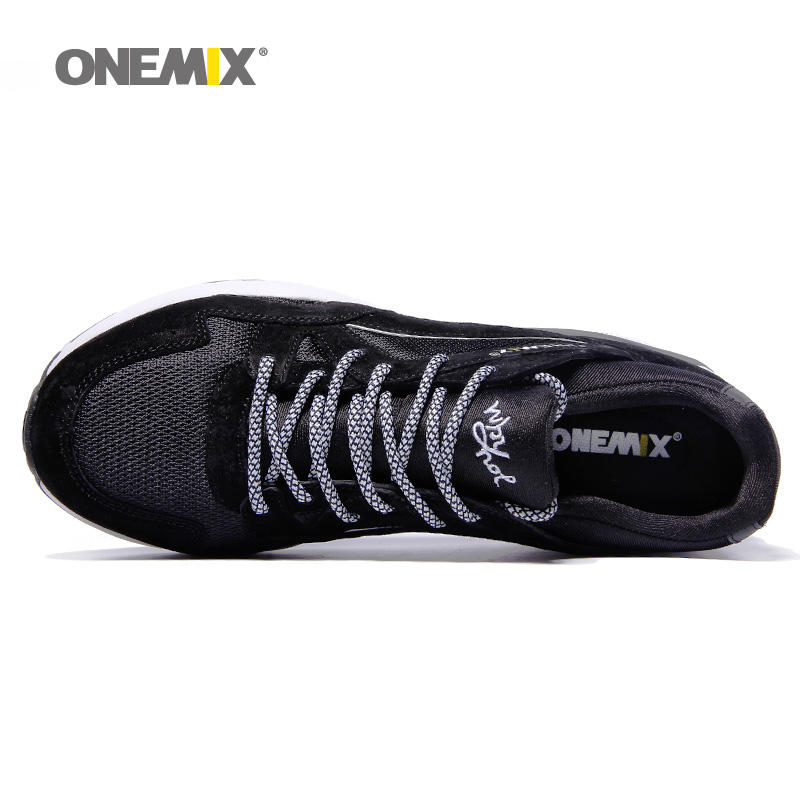 Onemix Men Running Shoes For Women Outdoor Tennis Sport Monkey King Black Retro Classic Athletic Trainers Trail Walking Sneakers Modern Techniques Sports & Entertainment