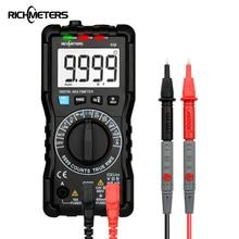 RICHMETERS 110 Digital Multimeter TRUE-RMS 9999 Counts NCV Backlight AC DC Voltage Current Resistance Battery Tester
