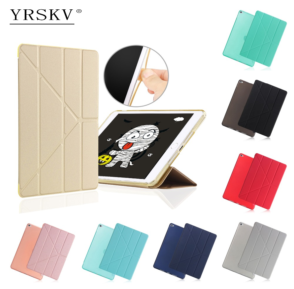 Case for iPad Air 2 (2014) YRSKV PU Leather+TPU Rear Cover Smart Auto Sleep Wake Tablet Case For Apple iPad Air 2 : A1566`A1567 ctrinews flip case for ipad air 2 smart stand pu leather case for ipad air 2 tablet protective case wake up sleep cover coque