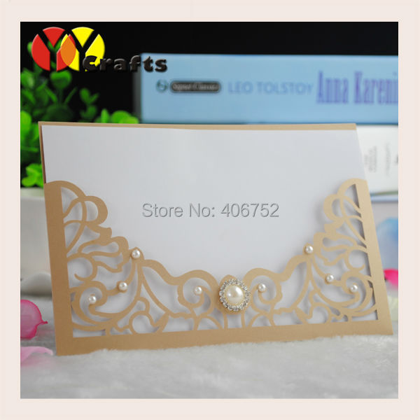 Low Price Delicate Laser Cut Floral Invitation Cards For