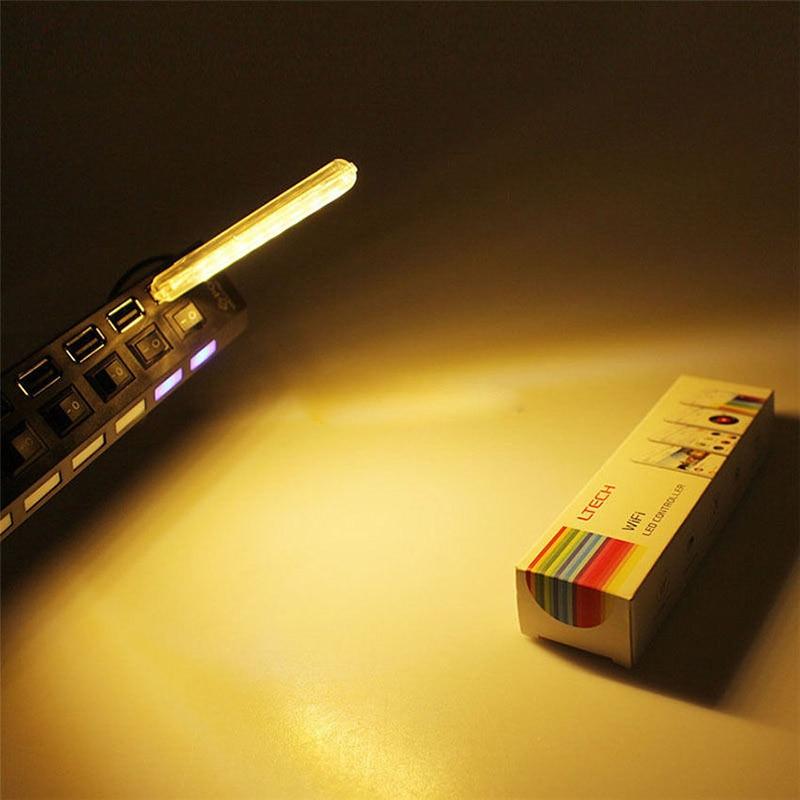 Mini USB LED ночник Кемпинг лампы 8 светодиодов зарядка через USB Чтение свет портативный компьютер стол светодиодные лампы p0.2