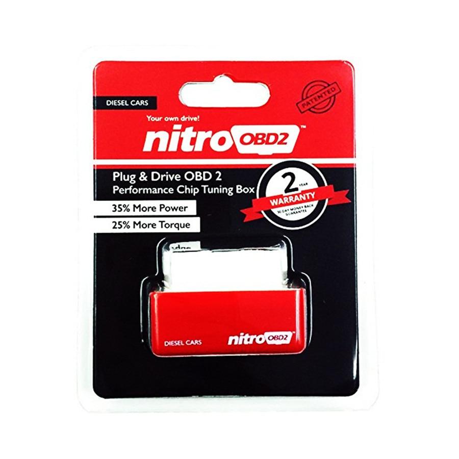 Prix pour 10 pcsHigh Performance OBD2 ECU Chip Tuning NitroOBD2 Rouge Couleur Diesel Voitures Augmenter la Puissance Moteur Nitro OBD2 Diesel LIVRAISON GRATUITE