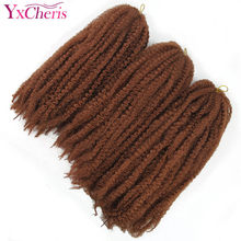 YxCheris Bob Marley Braids Hair Soft Afro hair Kinky Curly Natural Kanekalon Hair Style Synthetic Braiding Hair Crochet Braids(China)