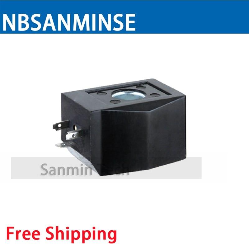 AB510 Water Valve Series Coil Electrical Solenoid Valve Coil AC220V , DC24V Voltage DIN43650A Valve Coil Sanmin
