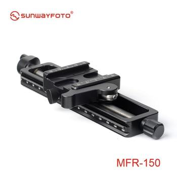 SUNWAYFOTO MFR-150 High Quality Aluminium 4-way Macro Slider Macro Photography Tripod Oodaklama Macro Focusing Rail Slider Plate