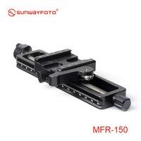 SUNWAYFOTO MFR 150 High Quality Aluminium 4 way Macro Slider Macro Photography Tripod Oodaklama Macro Focusing Rail Slider Plate