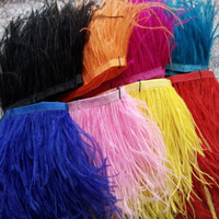 Wholesale 10yards pretty natural ostrich feathers ribbon 8 10cm/3 4inches