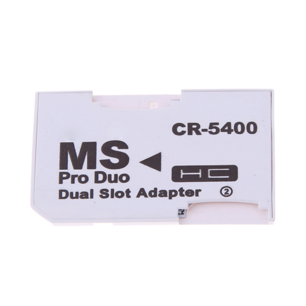 Dual 2 Slot Micro For SD SDHC TF to Memory Stick MS Card Pro Duo Reader Adapter For PSP Card Reader High Quality Accessories slinky and fashion for micro sd sdhc tf m2 mmc ms pro duo all in 1 usb 2 0 multi memory card reader high transmission speed