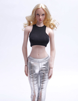 1/6 Women's Sexy Vest and Pencil Leggings Pants Set Models for 12''Action Figures Bodies