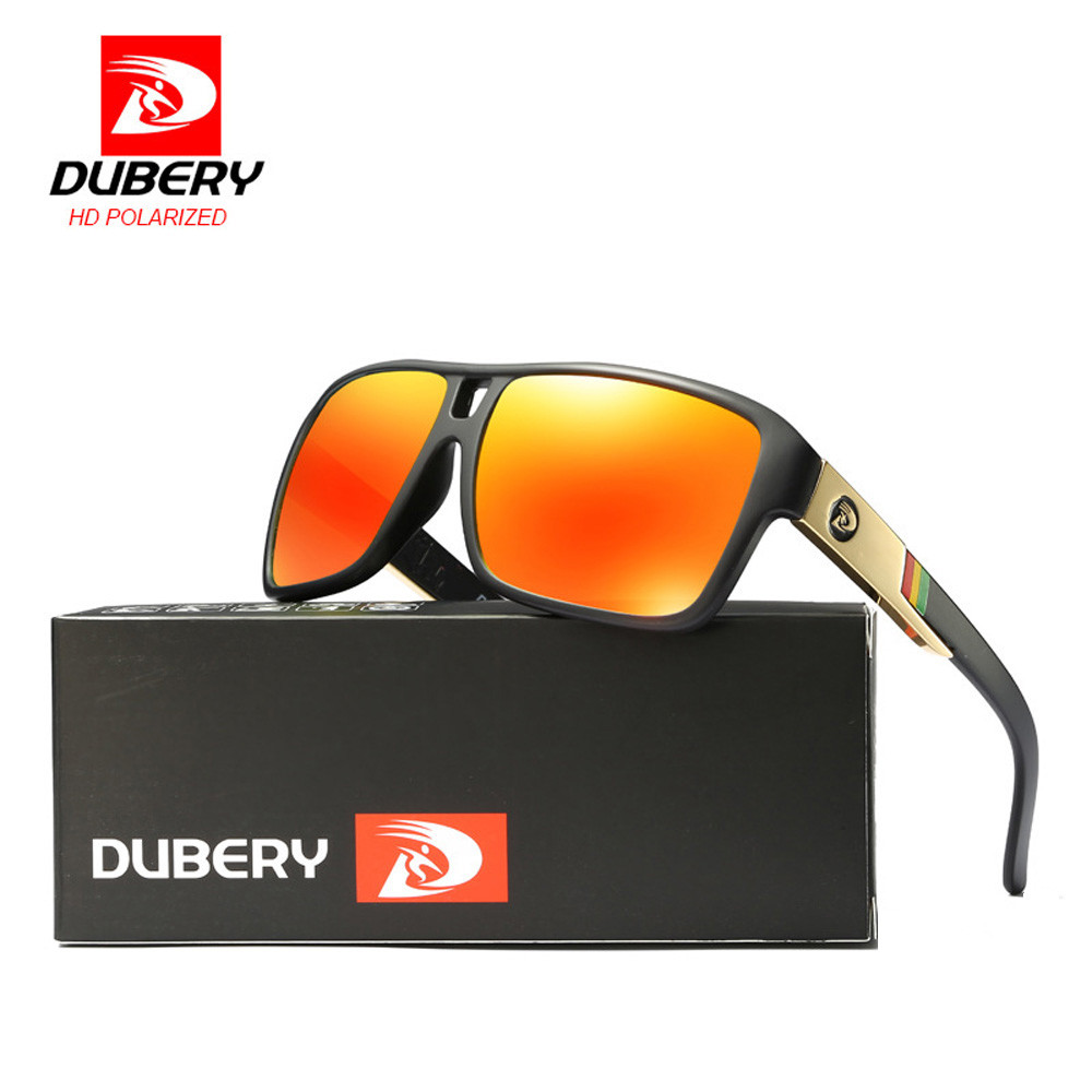 DUBERY 9 Colors Men Sport Sunglasses Outdoor Driving Riding Large Frame Goggles