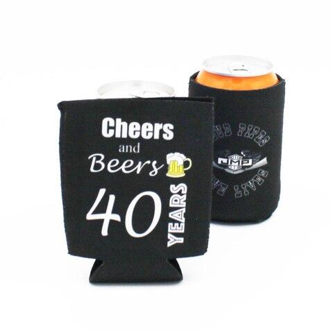 Decoração de Festa de Casamento Pieces Dobrável Cerveja Pode Refrigerador Luva Personalizado Seu Logotipo Barato Garrafa Cozy Titular Presente 50