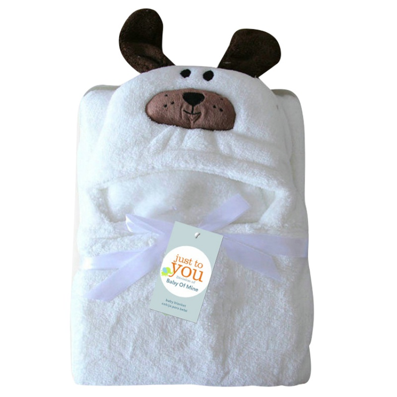 Baby Blanket Kids Toddler Babies Towel Bath Cute Cartoon Animal Hooded Bathrobe