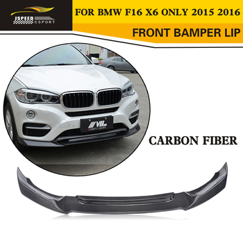 Car Styling Carbon Fiber Front Bumper Lip Splitter for BMW F16 X6 xDrive Standard Bumper Only 2015 2016 image