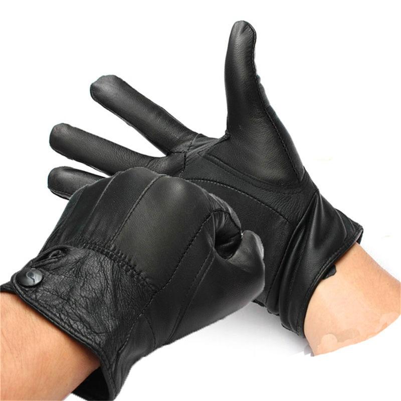 Prix pour Haute qualité 1 par hiver neige en cuir de mouton noir femmes femme Motorcycle vélos Bike Wormer gants