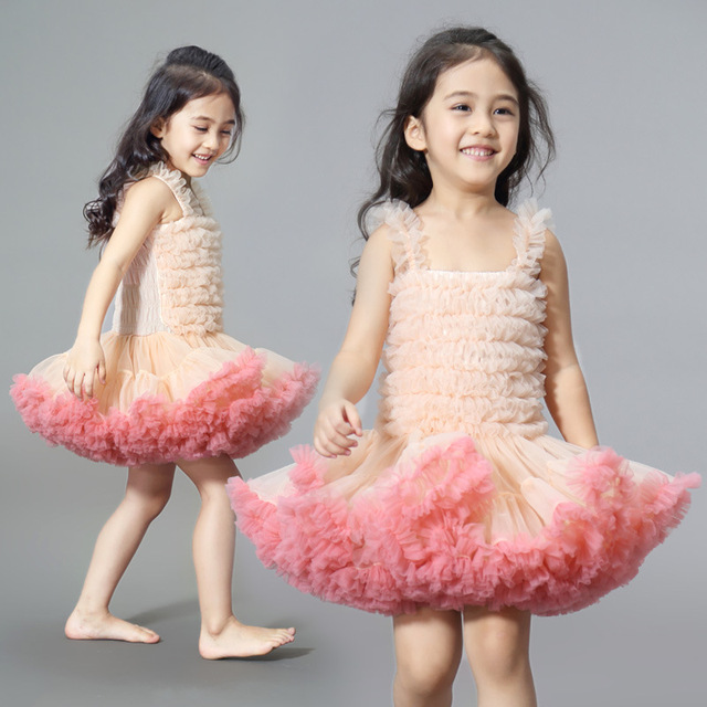 0385c5e2baa2 DE PEACH 2019 Summer Baby Girls Fluffy Lace Dress Kids Tulle Tutu ...