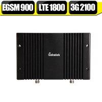 EGSM 900 DCS LTE 1800 WCDMA 2100 Triple Band Cell Phone Signal Booster 70dB 23dBm 2G