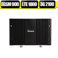EGSM 900 DCS LTE 1800 WCDMA 2100 Triple Band Cell Phone Signal Booster 70dB 23dBm 2G
