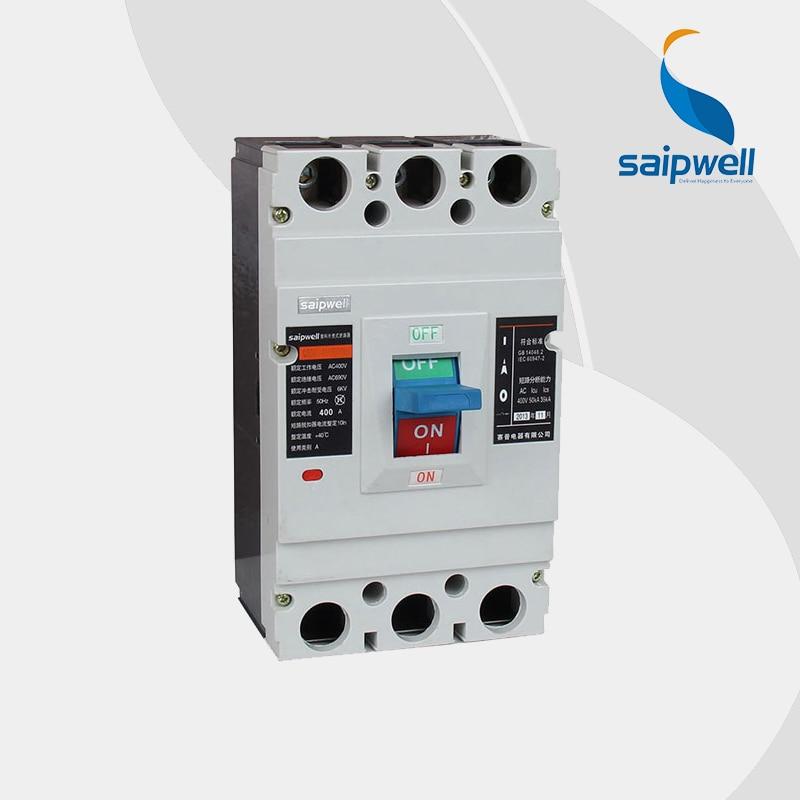 Saipwell pole en plastique boîte de disjoncteur de Protection contre télécommande ( SPM2-400L / 3 P )
