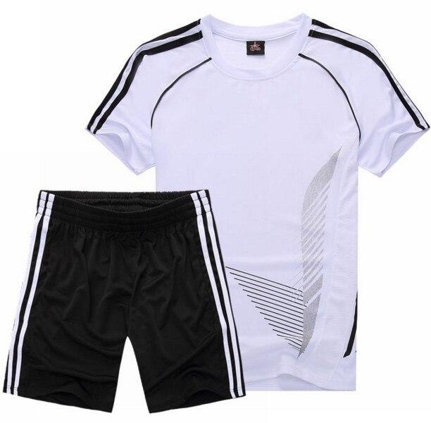 more photos b09bd ee9f9 US $11.9 30% OFF|Hot Mens Soccer Jerseys Sets Teens mens Football Training  Breathable Football Jerseys Custom Sports Suit Uniforms Wear green Kit-in  ...