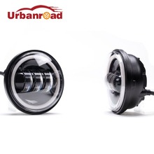 2pcs 30w Led 4.5'' inch motorcycle fog light With DRL Projector Waterproof Led 4 1/2 passing Auxiliary lamp Black For Harley