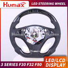 LED display steering wheel for BMW 3 series E90 E92 f80 LCD RACE DISPLAY STEERING WHEEL with data upgrade fuction led steering