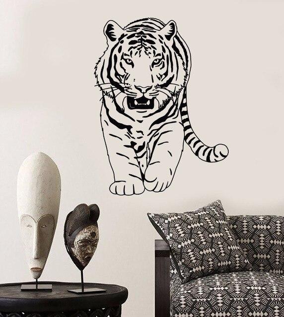 Tiger Wandaufkleber Steuern Dekor Wohnzimmer Schlafzimmer Zoo Wandtattoo  Afrikanische Tiere In Zahlreichen Farben Kunst Aufkleber ZB281