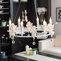 American pastoral angel light Nordic personality LED living room dining room lights kids room lamp bedroom pendant light ZA ZX43