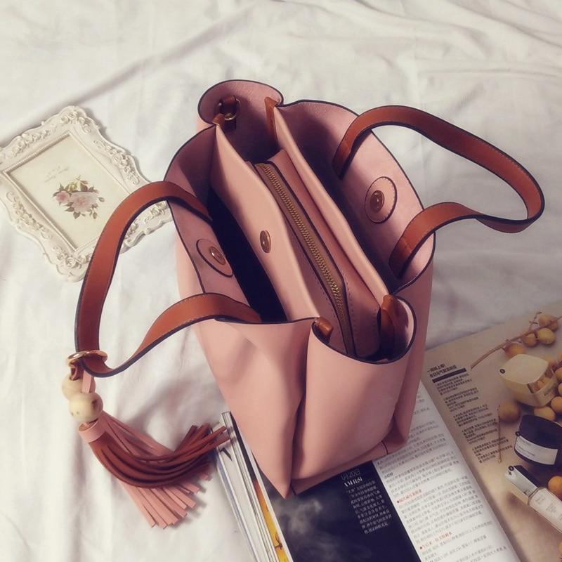 ФОТО Bags Tassels leather wings bag for women shoulder bag fashion tassel handbag work handbag female bag bolsas women messenger bags
