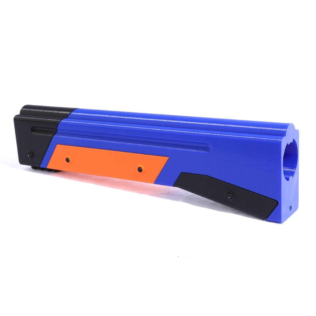 Tactische Kid Speelgoed Pistool 3D Afdrukken Verschijning Modificatie Kit voor Nerf Retaliator Blasters Accessoires Component-Blauw