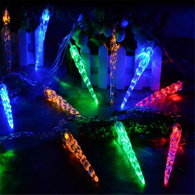 3m 20led battery operated led icicle stick fairy string lights for