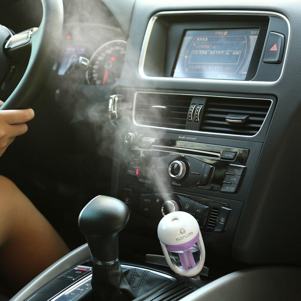 1x car steam humidifier auto mini air purifier freshener car portable essential oil diffuser. Black Bedroom Furniture Sets. Home Design Ideas