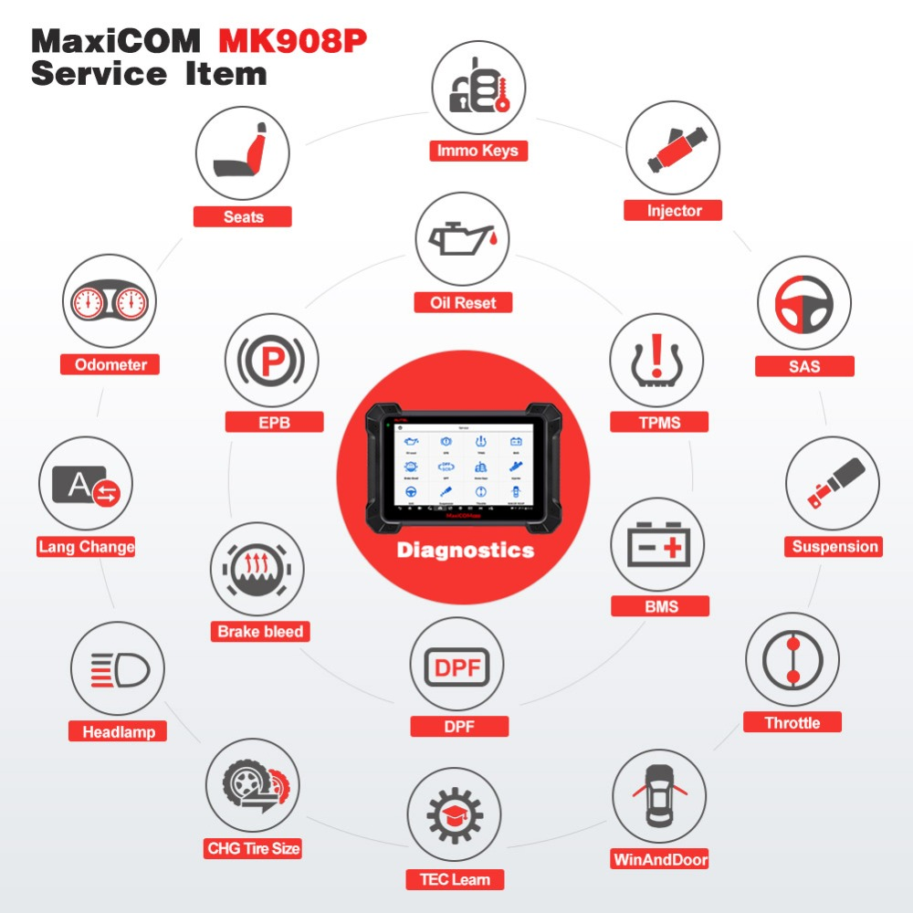 Image 5 - Autel MaxiCOM MK908P MS908P Automotive Diagnostic Tool OBD2 Scanner All System ECU programming J2534 Programmer PK Maxisys Elite-in Engine Analyzer from Automobiles & Motorcycles