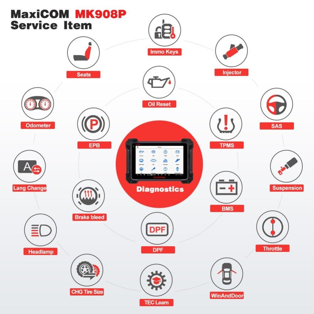 Image 5 - Autel Maxisys MS908 автомобильный диагностический инструмент сканирование всех систем Расширенный программатор ЭБУ Программирование ключей авто считыватель кода для компьютерной диагностики автомобиля сканер-in Анализатор двигателя from Автомобили и мотоциклы