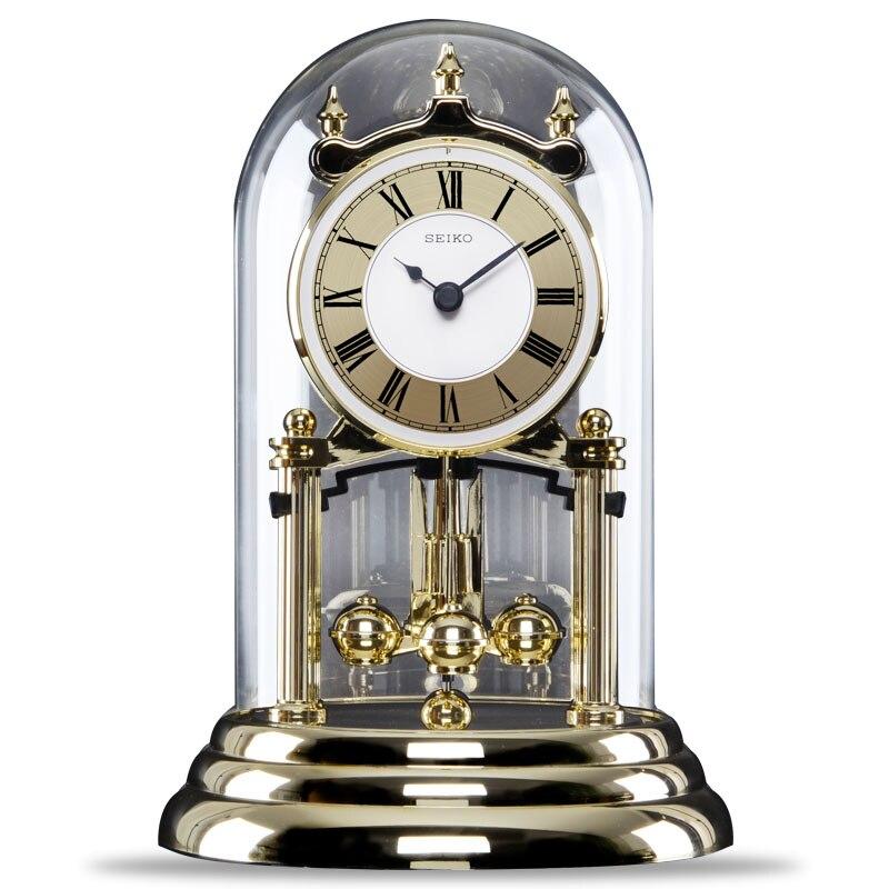 Elegant Online Shop Seiko Seiko Clock Pendulum Rotating Bedroom Luxury Living Room  Glass Table Clock Desk | Aliexpress Mobile